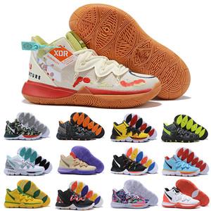 Nike حار بيع Kyrie 5 V أحذية كرة السلة للرجال ايرفينغ 5S Ikhet سلتكس السحر الاسود فرعون تاكو كامو الرياضة حذاء رياضة مدرب حجم الولايات المتحدة 12 EUR 46