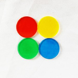 50Pcs set Foreign Trade Hot 25mm Plastic Chip Color Chip Game Currency Bingo Game Accessories Teaching Plastic Coins