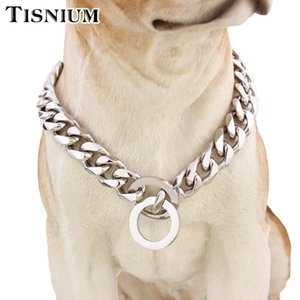 12mm Pet Supplies Dog Chain Link Choker Cuban Style Solid Stainless Steel Chain Convenient Lock Sturdy Durable Wholesale Retail