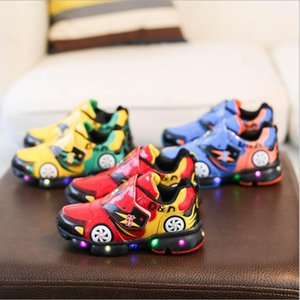 Kids Boys Led Sports Shoes With Lights Spring running Shoes Children Toddler Baby Shoes