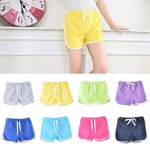 Pantalones Shorts niños del bebé del verano caliente de los deportes con cordón casuales pantalones cortos de las muchachas de seguridad anti-rayado de fugas Pantalones cortos Pantalones IIA233