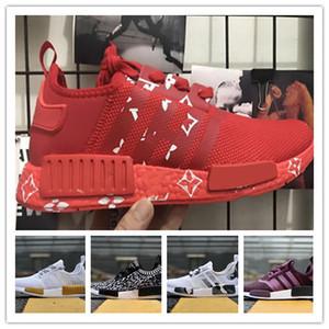 (con cajas) 2019 Human Race Zapatillas de running para hombre x1 Pharrell Williams Sample gules Core Black Sport Designer Shoes Women Sneakers
