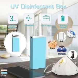 2 colores portátil USB Caja de desinfección doméstica pequeña esterilizadores UV LED Desinfección familia Desinfectantes
