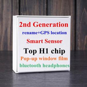 I più popolari Gen 2 Popup Supercloned H1 chip Bluetooth doppio Auricolare tocco Voice Control Sensor Convalida SN Modifica nome Bluetooth
