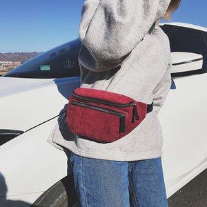 corduroy Waist Bag designer Zipper Chest Bag Sport Canvas Fanny Pack Girl Waist Belt Bags Fashion Phone Pack for women