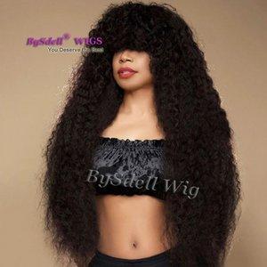 Afro Kinky Curly Hair Peluca Frizzy trenzada rizada onda estilo pelucas afroamericanas pelucas delanteras de encaje sintético para mujeres negras