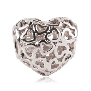 Fit Pandora Bracelet European Fashion Jewelry For Women Gift Girl Luck Number 0 to 9 Free Shipping Silver Digital Beads Charms