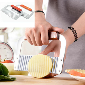 Coupe de pommes de terre vague en acier inoxydable légumes Slicer pommes de terre pâtisserie Kitche Outils bricolage main savon Couteau HHA1297