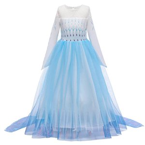 INS Cosplay girls dresses long kids dresses princess dress formal dresses party dress kids designer clothes girls clothes retail B1061