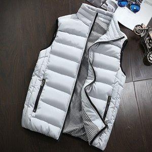 Pato abajo concede mangas de los hombres chaqueta de abrigo de los hombres 5XL Ultraligero White Slim chaleco a prueba de viento Hombres Chaleco Caliente Tamaño