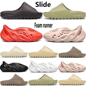 New Schaum Läufer kanye west Herren Pantoffel Sandale Schuhe Harz Knochen triple schwarzem Sand Erde weiß Wüste Brown Männer Frauen Stylist Sandalen
