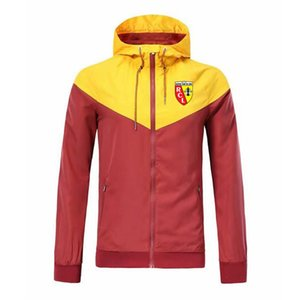 En RC Lens WINDBREAKER Futbol Ceket 2020 moda futbol Kapşonlu Ceketler Spor ceket Eğitim Futbol WINDBREAKER Erkekler Ceketler