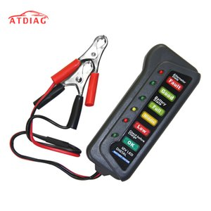 2018 New Digital 12V Car Motorcycle Battery Alternador Tester com 6 luzes LED Display Car Vehicle Battery Testing Tool