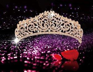 20pcs / lot DIY goldene Sliver Bride Crown Drill Stirnband Die Königin-Party-Hauptbänder Fotofachgeschäft Hair Styling Werkzeuge HA868