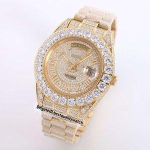Top Quality 228349RBR m118388 Amarelo Data Dial Caso Diamante do aço mecânico automático 228348RBR Mens Watch Sapphire Designer relógios de luxo