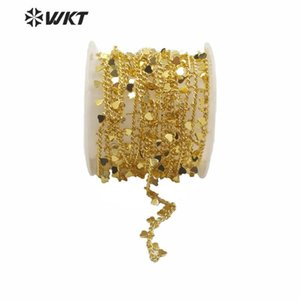 WT-BC138 Wholesale Brass Chain With Gold Electroplated Small Heart Shape Pendant Women Jewelry Chain Making