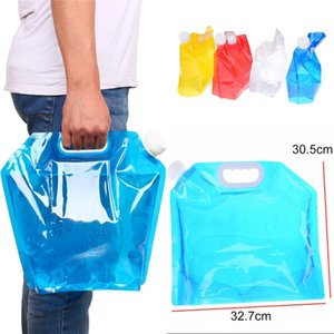 5L Outdoor Folding saco de água dobrável Água potável Bolsa para Actividades ao ar livre Caminhadas Camping Picnic churrasco