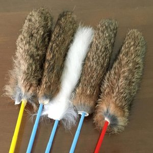35cm Pet Hair Teaser Toys Pet Exerciser Stick Interactive Playing Wands Rod Toys Random Color