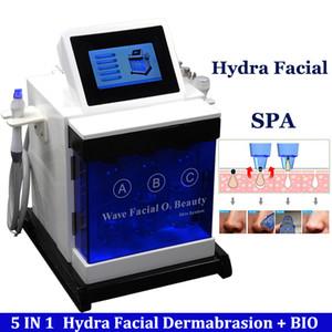 Máquinas de microdermoabrasão de diamante 5 em 1 Hydra Bio Microcurrent Microcorrente por radiofrequência Cavitação ultra-sônica que aperta o equipamento dos cuidados faciais