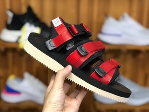 New Top Quality SUICOKE MOTO VS CAB KAW 18ss Sandals For Men Women Fashion CLOT Slide Black Red Slippers Sandal