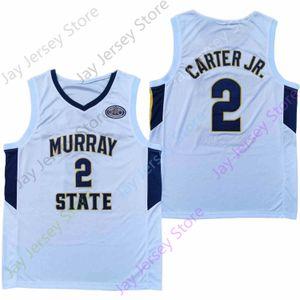 2020 Yeni Murray State College Basketball Jersey NCAA 2 Chico Carter Jr Tüm Dikişli ve Nakış Erkekler Gençlik Boyutu