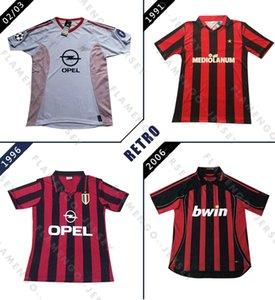 AC 1991 1992 1996 1997 2002 2003 2005 2006 2007 Retro maglia da calcio Weah BAGGIO KAKA MALDINI INZAGHI PIRLO Milano VINTAGE calcio shir