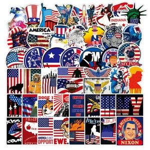100pcs مختلف علم الولايات المتحدة الأمريكية ملصقات JDM مختلطة لسيارة حقيبة سفر دراجات ديكو ملصقات الغيتار ديكو