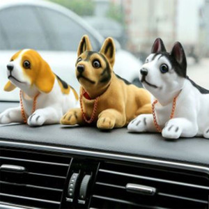 Bobble Head Dog Dashboard Car Doll Auto Shaking Head adornos de juguete Nodding Dog Car Interior regalo de la decoración