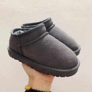 2020 Зимняя классика Mini Short Leather Австралия Snow Boots на открытом воздухе Дети обувь мальчик девочка молодежь ребенок спорт Бег размер Sneaker 25-32