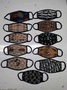 Moda Máscara Carta Rosto de luxo impressão Máscara respirável Mulheres Máscaras Designer face Unisex reutilizável lavável Ciclismo Outdoor Máscara