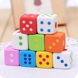 Dice Shaped Erasers for Kids 3D Candy Color Dice Eraser Rubber Eraser Toys School Office Supplies