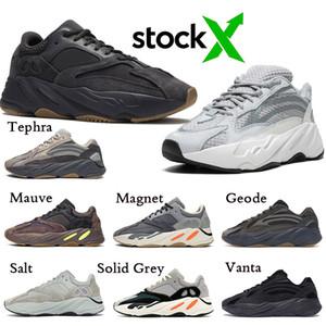 Free Shipping Kanye West Shoes Running Shoes Wave Runner OG Solid Grey Men Women 700 V2 Geode Static Mauve Designer Sneakers Stock X