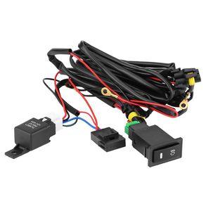 12V Универсальный автомобильный LED Противотуманные фары с подсветкой On / Off Rocker Switch Электропроводка Предохранитель 40 Ампер реле Kit Более 10.7ft электроустановочных