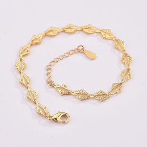 Korean-style Hipster Hollow out Gourd Silver-plated Bracelets Simple Elegant Fashion Models Plated Gold