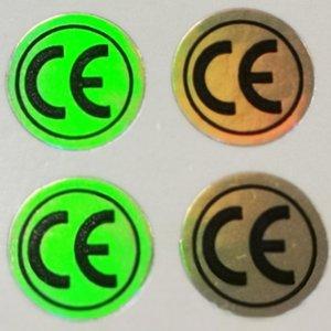 2000 pcs autocollants étiquette CE, couleur unie changeant effet hologramme pour les produits de certificats Europe, article n ° FA01