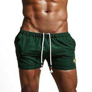 Swim Trunks green Mens doux et respirant Swim Trunks Pants Maillots de bain Shorts Slim Wear Bikini Maillots de bain shorts de plage d'été