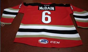 femmes hommes sur mesure jeunesse vintage # 6 Jamie McBain TUCSON ROADRUNNERS Hockey Jersey Taille S-5XL ou sur mesure un nom ou un numéro