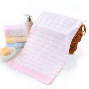 Fabricante Atacado toalha de algodão pequeno 25 * 50 centímetros infantil Face Wash Towel Logo Presentes absorvente Household personalizado
