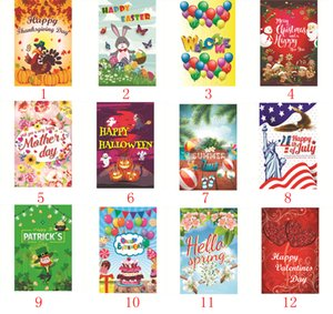 All kinds of Digital printed polyester Garden flag Christmas, Halloween, Thanksgiving, mother's day,Birthday etc.size 30cm*45cm
