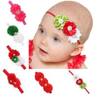 Muchachas de la Navidad de las vendas flores hechas a mano del Rhinestone de la venda de los bebés Headwear lindo de Navidad fuerza elástica banda para el cabello 07