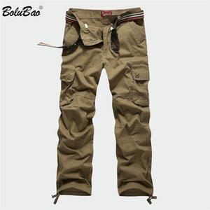 Bolubao 2018 новый грузовой мульти карманы военный камуфляж спортивные брюки брюки мужские эластичные брюки талии мужчины C19041303