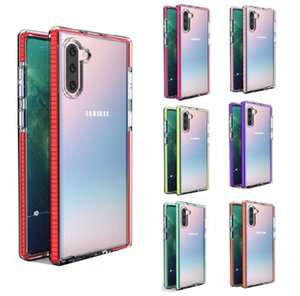 Designer Phone Case Two-tone Clear Transparent TPU Shockproof Cover Soft Case For Samsung S10 S9 Note 10 Plus S8 iPhone 11 XS MAX