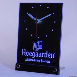 Wholesale- tnc0122 Hoegaarden Belgien Beer Bar, Tisch, Schreibtisch 3D-LED-Uhr