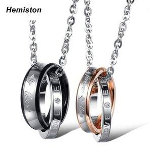 Hemiston Rodada Titanium Colar Amantes Aço
