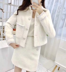 Womens jacket skirt suit trend Asian size S-MWSJ012 casual fashion style comfortable warm skirt