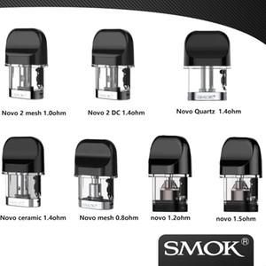 100% originale SMOK Novo / Novo baccelli 2 di ricambio / cartucce 2ml per Smok Novo / novo 2 Starter Kit 3 pezzi ogni confezione