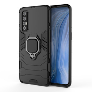 Shockproof Armor Phone Case For OPPO Find X2 Pro Lite Reno 4 3Pro 2F Ace 2 Car Holder Ring Caver For OPPO Find X F11 Pro K5 K1