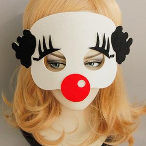 Máscara de payaso divertido barroco Mascarada Máscaras de payaso unisex Uk Halloween Pascua Accesorios de rendimiento Pendientes de Halloween para niñas