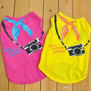 Puppy Dog Camera Impresso Verão Vest Dog Pet verão fresco Puppies Roupa cães pequenos Vest Camera Impresso Vestuário Verão Vest
