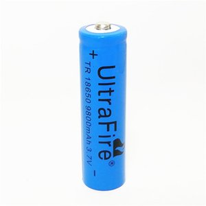 blue yellow UltreFire battery 18650 9800mAh 3.7V Rechargeable f lithium battery for hand-held fan flashlight battery Free shipping